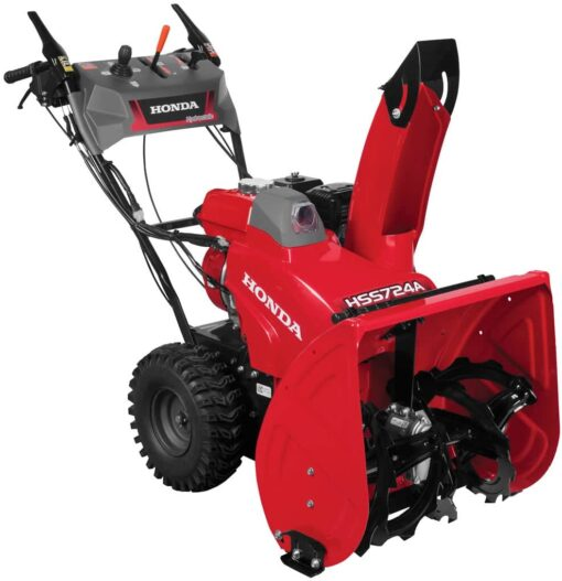 Honda Power Equipment HSS724AAWD 24″ 196cc Two-Stage Snow Blower with 12V Electric Start Aurora CO