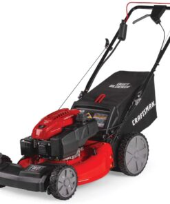 Craftsman M275 159cc 21-Inch 3-in-1 High-Wheeled Self-Propelled FWD Gas Powered Lawn Mower, with Bagger, Red