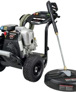 SIMPSON Cleaning MS61033-S 3300 PSI at 2.4 GPM Honda GC190 with OEM Technologies Axial Cam Pump Cold Water Premium Residential Gas Pressure Washer and Surface Scrubber Aurora CO