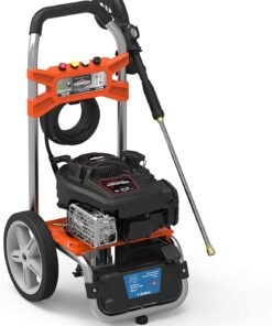 YARD FORCE YF3100ES-R 3100 Psi Gas Pressure Washer w/Briggs & Stratton Engine, Remote Start, Black/Orange Aurora CO