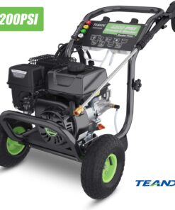TEANDE 4200PSI Gas Pressure Washer 3GPM Power Washer 209CC Gas Pressure Washer Powered, 5 Adjustable Nozzles, 20ft Pressure Hose, Dual soap Tank (Black) Aurora CO