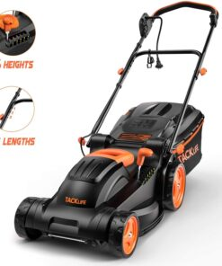 "TACKLIFE Lawn Mower, 14-Inch, 10 Amp Electric Lawn Mower, 6 Central Adjustable Heights (0.98""-2.95""), 3 Adjustable Handle Length, Easy Control, Tool-Free Installation, 10.5Gal Grass Box – KALM12A Aurora CO"