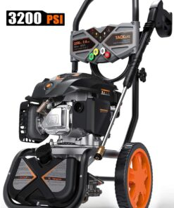 TACKLIFE 3200PSI Gas Pressure Washer, 2.4GPM 6.5HP Power Washer with 5 Quick-Connect nozzles,4-Stroke OHV Engine,Includes 25ft Hose& Detergent Tank Aurora CO