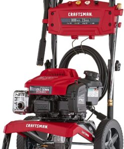 CRAFTSMAN 3000 MAX PSI at 2.1 GPM Gas Pressure Washer with Ready Start, Idle Down Technology, 25-Foot Hose, and 4 Quick-Connect Nozzles, Powered by Briggs & Stratton Aurora CO