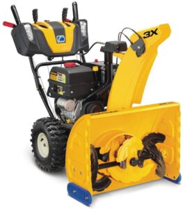 What do I do if I left the gas in my snowblower?