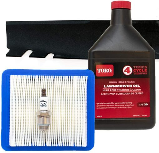 Toro Recycler Blade 131-4547-03 with Briggs & Stratton Engine Tune-Up Kit